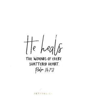 he heals
